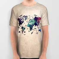 Oceans Life World Map All Over Print Shirt by Jbjart | Society6