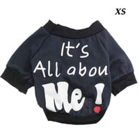 Fashion Puppy Batwing Sleeved XS Size Clothes T-shirt for Pet Dog with Words-It¡¯s All about Me! = 1945661060