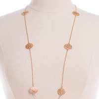 Double Down Necklace, Gold