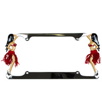 Hula Girl License Plate Frame