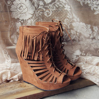 Dreamy Fringe Booties