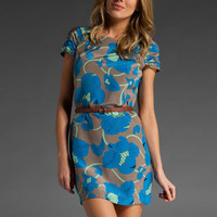 TIBI Bianca Shift Dress in Stone Multi at Revolve Clothing - Free Shipping!