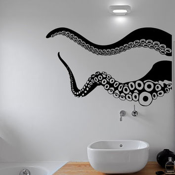 Octopus Tentacle Wall Decal Kraken Sea Animals Stickers Nautical Marine Ocean Decor Bathroom Living Room Bedroom Wall Art Home Decor C092