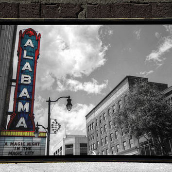 Birmingham, Alabama, Wall Art, Magic City, Alabama Theatre, Cityscape, Digital Print, 18x12
