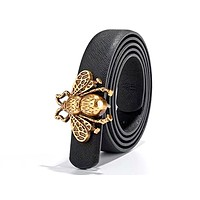GUCCI Tide brand women's fashion wild bee smooth buckle belt