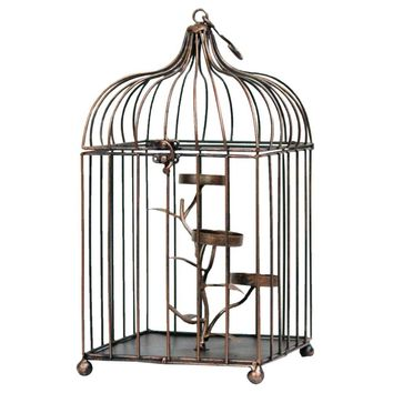 Enchanting Metal Bird Cage-Benzara