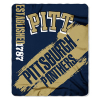 Pittsburgh Panthers NCAA Light Weight Fleece Blanket (Painted Series) (50inx60in)