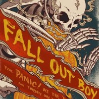 "Fall Out Boy Fabric Cloth Rolled Wall Poster Print -- Size: (36"" x 24"" / 20"" x 13"")"