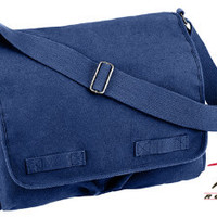 Rothco Heavyweight Canvas Classic Messenger Bag - Blue