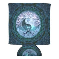 Yin Yang Tree of Life Blue Can Cooler