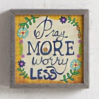 Pray  More  Street  Market  Art  From  Natural  Life