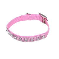 "Coastal Pet Nylon Jeweled Dog Collar 3/8"" x 10"" Pink"