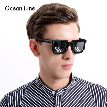 Funny Pixel Retro Sunglasses Pixelated Video Game Glasses Party Favors Photo Booth Props Accessories Party Supplies Decoration