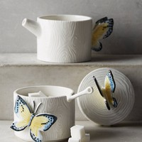 Papillon Creamer & Sugar Bowl Set