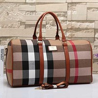 Burberry Women Leather Shoulder Bag Satchel Tote Travel Bag Handbag