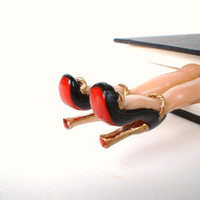 Black High Heels Bookmark -  Red Sole - Louboutin Inspired - Gifts - Fun and Unique Bookmarks