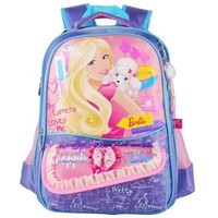 School Backpack Barbie cartoon students primary school bag books for girls backpack portfolio class/grade 1-3 AT_48_3