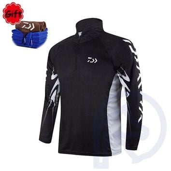 Men Women Fishing Clothing Fishing Shirt Coat Breathable Anti-UV Quickly Dry Outdoor Sports Fishing Clothing with Free Gift