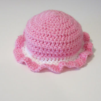 0d1d698d405 BlueBayouDesigns Blue Bayou Designs  18.00. Pink and white baby girl  sunhat
