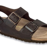 Milano Sandal in Habana Oiled Leather with Soft Footbed by Birkenstock