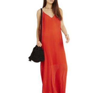 BCBGeneration Pleated Maxi Dress Coral