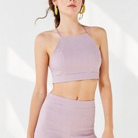 UO Polka Dot Cropped Halter Top | Urban Outfitters