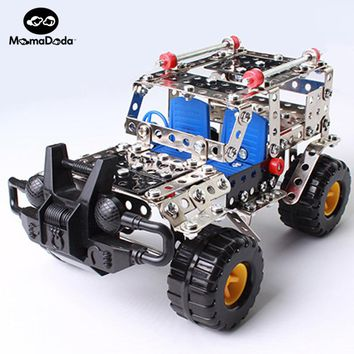 262pcs Plastic Model Kits Metal Model Puzzle Jeep Car Toy Baby Scale Models Kit 3D Building DIY Toy Kit Children Educational Toy