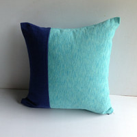Mint Pillow covers, Home Decorators, Navy Mint Decorative Pillow Cover, House Warming Gift, Blue Cushions,