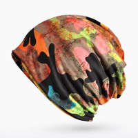 Woman Hats Print Camouflage Beanies Cotton Warm Skullies Women Scarf Casual Cap Outdoor Riding Hat