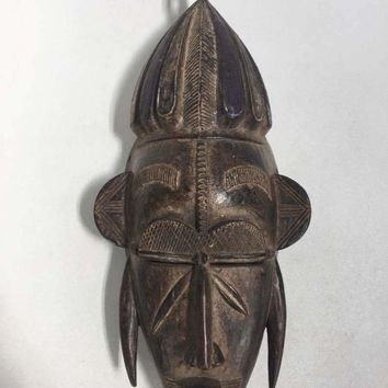 Vintage African Carved Wood Mask