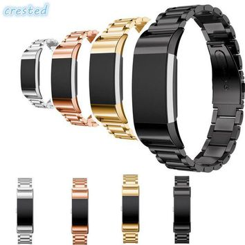 ONETOW CRESTED Stainless Steel Watch band strap For Fitbit Charge 2 bracelet Smart Watch Wristwatch for Fitbit Charge2 with Connector