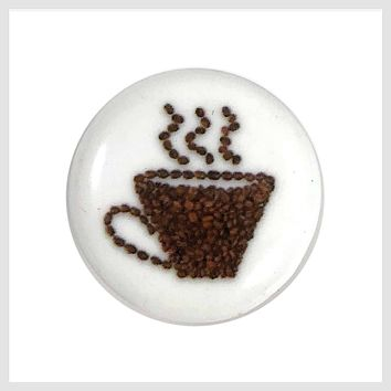 Painted Enamel Cup of Coffee 20 mm 3/4""