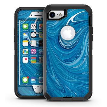 Liquid Blue Color Fusion - iPhone 7 or 7 Plus OtterBox Defender Case Skin Decal Kit