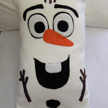 Olaf Fleece Pillow Case, Frozen