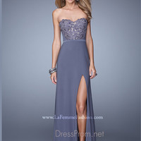Strapless Sweetheart La Femme Formal Prom Gown 20680