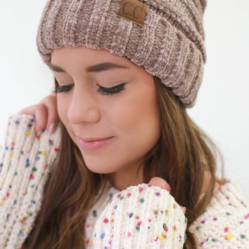 Fashionably Warm Beanie - Taupe
