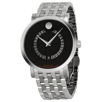 Movado Red Label Mens Automatic Watch 0606284