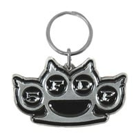 Five Finger Death Punch Knuckles Metal Key Chain Silver