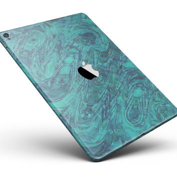"""Teal Slate Marble Surface V48 Full Body Skin for the iPad Pro (12.9"""" or 9.7"""" available)"""