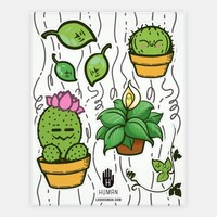 Kawaii Plant Stickers