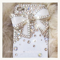 iPhone 4 Case, iPhone 4s case, iPhone 5 Case, Bling iPhone 4 case, iPhone 5 bling case, White iPhone 4 case, iPhone 4 case bow, case iphone4