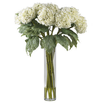 Hydrangea w/Cylinder Silk Flower Arrangement