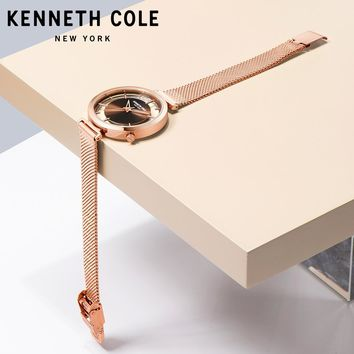 Kenneth Cole Womens Watches Quartz Steel Gold Silver Strap Bracelet Luxury Brand
