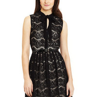 ideeli | VINCE CAMUTO Two-Tiered Dress with Tie Neck