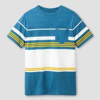 Boys' Classic Stripe Pocket T-Shirt Cat & Jack™ - Blue : Target