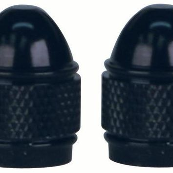 Slime Anodized Aluminum Valve Stem Caps Black - 20266