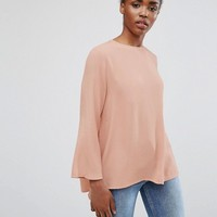 Mbym Flute Sleeve Top at asos.com