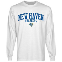 University of New Haven Chargers Team Arch Long Sleeve T-Shirt - White