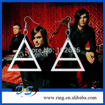 30 Seconds to Mars Triangle Jewelry EARRINGS