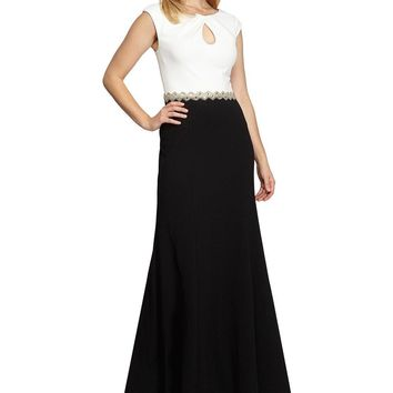 Alex Evenings - 460108 Cap Sleeve Colorblock Long Gown